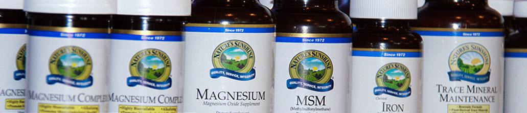 natural supplement bottles